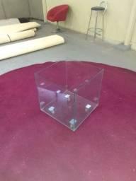 Cachepot vidro com rodizio