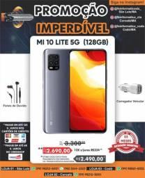 """Promoção  Xiaomi Mi 10 Lite 5G 128/6 de ram grey"""", + caixinha de som"""