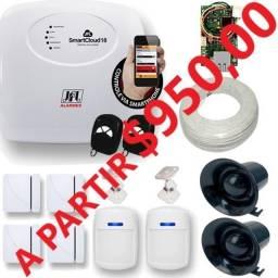 Topp Alarmes Residencial e Comercial Kit c/06 sensores instalado a partir $950,00