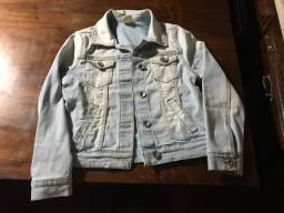 Título do anúncio: Jaqueta jeans lavado 7/8 anos