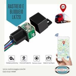 Rastreador e bloqueador veicular GPS modelo relé lk720 super discreto