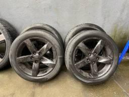 Título do anúncio: Rodas original Mitsubishi 17  com pneus super bonitos