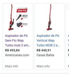 Título do anúncio: Vendo aspirador sem fio 2 em 1 turbo  novo marca wap