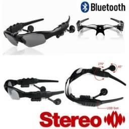 Óculos Bluetooth Música e atende chamadas telefônicas Lentes Cor Prata