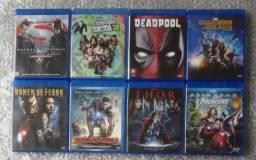 Kit c/11 Blu-rays/8 Filmes de Super Heróis - De Colecionador - Dub/leg - Londrina-PR