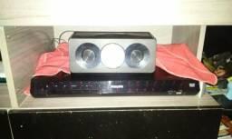 Vendo home theater Philips de 800 watts sem pegar o DVD