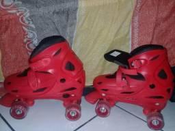 Patins patins clássico tamanho 37_ 40 na cor vermelha