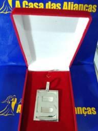 Pingente de prata todas Letras 4x 4 Cm Peso 20 gramas