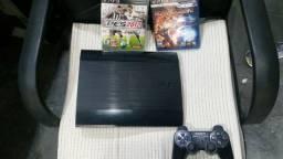 Playstation 3 usado com 2jogos e 1 manete comprar usado  Belo Horizonte
