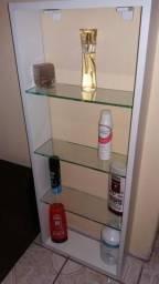 Nicho NOVO 3 Prateleiras vidro P/salões, banheiros, perfumes, cremes, Bares taças, copos,