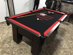 Mesa Charme Sinuca | Mesa Preta | Tecido Preto | Flamengo | Modelo: GLQP1265