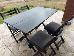 Jogo de mesa 1,20×60 Com 4 cadeiras