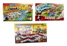 Kit Com 3 Jogos Educativos Pedagógicos