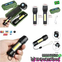 Mini lanterna LED recarregável apenas RS 40.00 cada