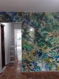 Trabalho com pinturas em casa, apartamentos, lojas