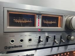 Tape deck gradiente cd-5500 das antigas perfeito raridade