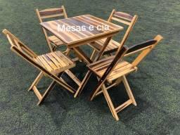 Mesa e cadeiras entrego