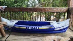 Canoa inflável savanna nautika 2 pessoas nova passo cartao entrego