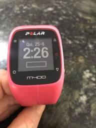 Relógio Monitor Cardíaco com GPS M400 Rosa