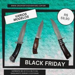 Black Friday - facas para churrasco ou taticas