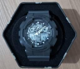 Relógio G-Shock Analógico GA-100CF Grafite