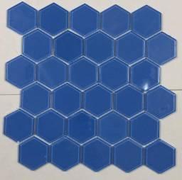 Título do anúncio: Pastilha de Vidro 30x30 Cloud Blue