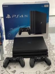 PlayStation 4 Pro Mais 2 jogos a escolha.