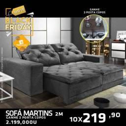 Título do anúncio: Sexta Black Friday TOP - Sofá MArtins 2m + Brinde - COM opções de tamanh