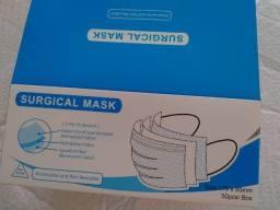 Mascara descartavel tripla camada caixa c/50 unidade alzul