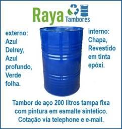 Título do anúncio: Tambor linha industrial 200 litros tampa fixa e removível pedido mínimo 50 peças