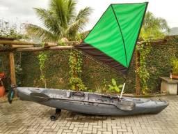Caiaque caiman 125 + sistema de vela + rodas de transporte