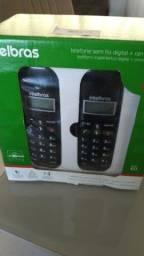 Combo Telefone sem Fio + Dois Ramais Adicionais Intelbras TS 3113 Preto