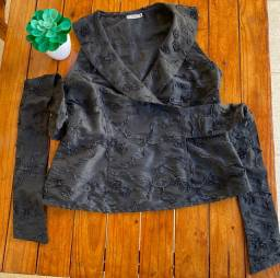 Blusa de tafetá