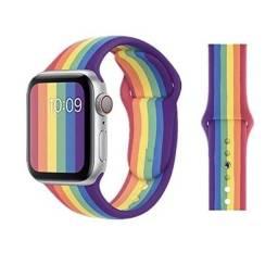 Título do anúncio: Pulseira de Silicone Rainbow Apple watch e Iwo