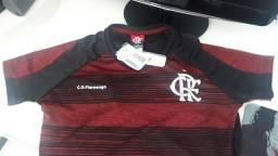 Título do anúncio: Camisa feminina do Flamengo tam. P, ja personalizada
