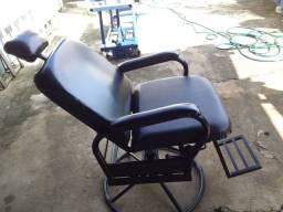 Cadeira salão ou barbeiro reclinável
