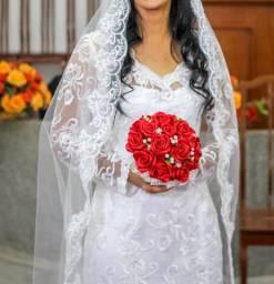 Aluguel de vestido de noiva sereia feito sob medida