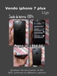 Vendo iPhone 7 Plus, valor 1.500 faço negociação