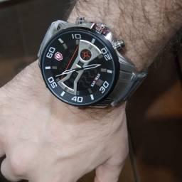 Relógio Masculino Kademan Casual Original Luxo Militar