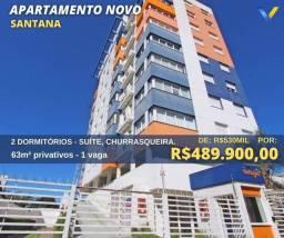 Título do anúncio: Apartamento para venda tem 63m² com 2 quartos (1suíte), 1 vaga em Santana - Porto Alegre -