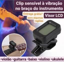 Afinador eletrônico digital violão guitarra violino ukulele