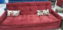 Sofá cama de veludo