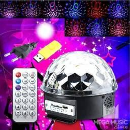 Globo De Luz Mágico Led Bluetooth De Cristal 6 Cores Luatek
