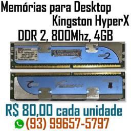 Memória DDR2 para desktop