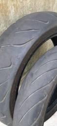 Título do anúncio: Par pneus Hornet/ CB 650 F