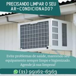 Lipeza de Ar condicionado de janela