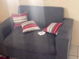 Kit de sofá com 3 e dois lugares + 6 almofadas