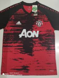 Camisa Manchester United Training Suit Vermelha Adidas 20/21 - Tamanhos: M, G