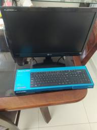 Título do anúncio: Monitor e teclado