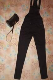 Macacão jeans e short